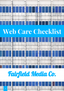 Fairfield Media Web Care Checklist